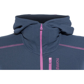 Norrøna Trollveggen Warm/Wool1 Zip Hoodie Dame indigo night/royal lush